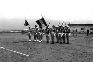 1964 drapeau  2° REP et 1° REC bou-sfer
